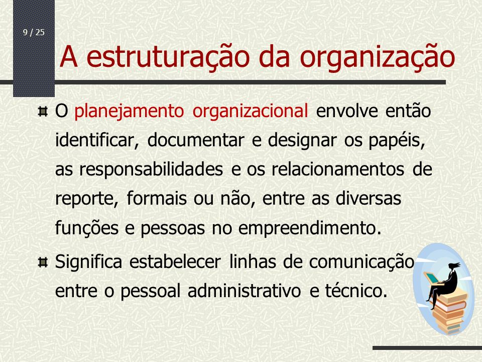 A estruturação da organização
