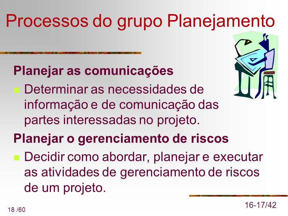 Processos do grupo Planejamento