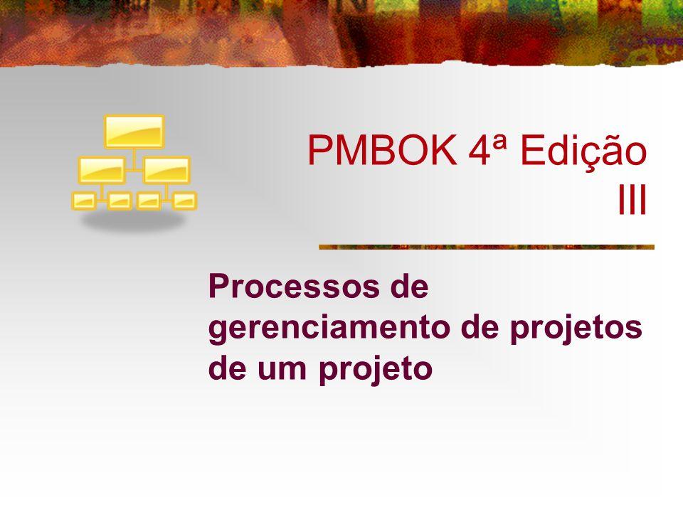 Processos de gerenciamento de projetos de um projeto
