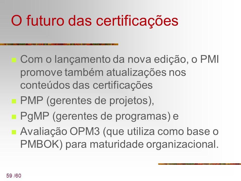 O futuro das certificações