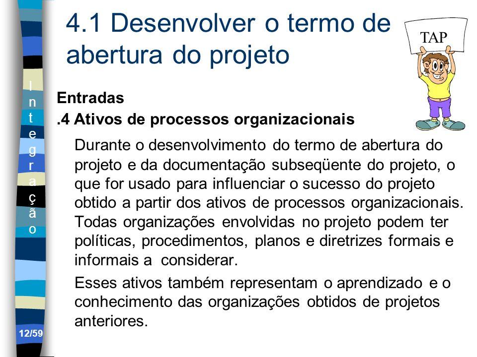4.1 Desenvolver o termo de abertura do projeto