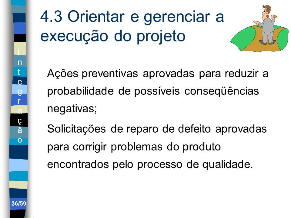 4.3 Orientar e gerenciar a execução do projeto