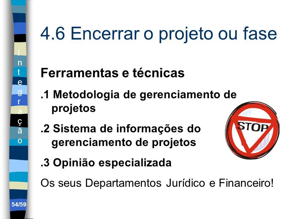 4.6 Encerrar o projeto ou fase