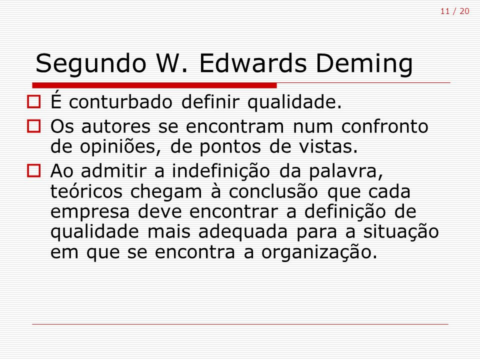 Segundo W. Edwards Deming