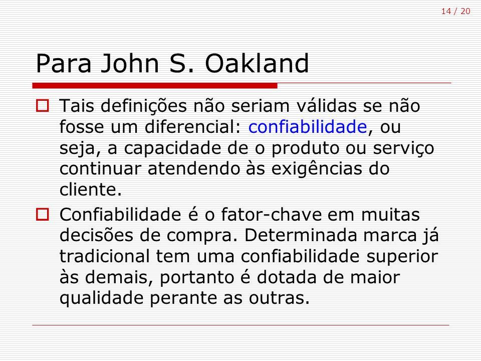 Para John S. Oakland