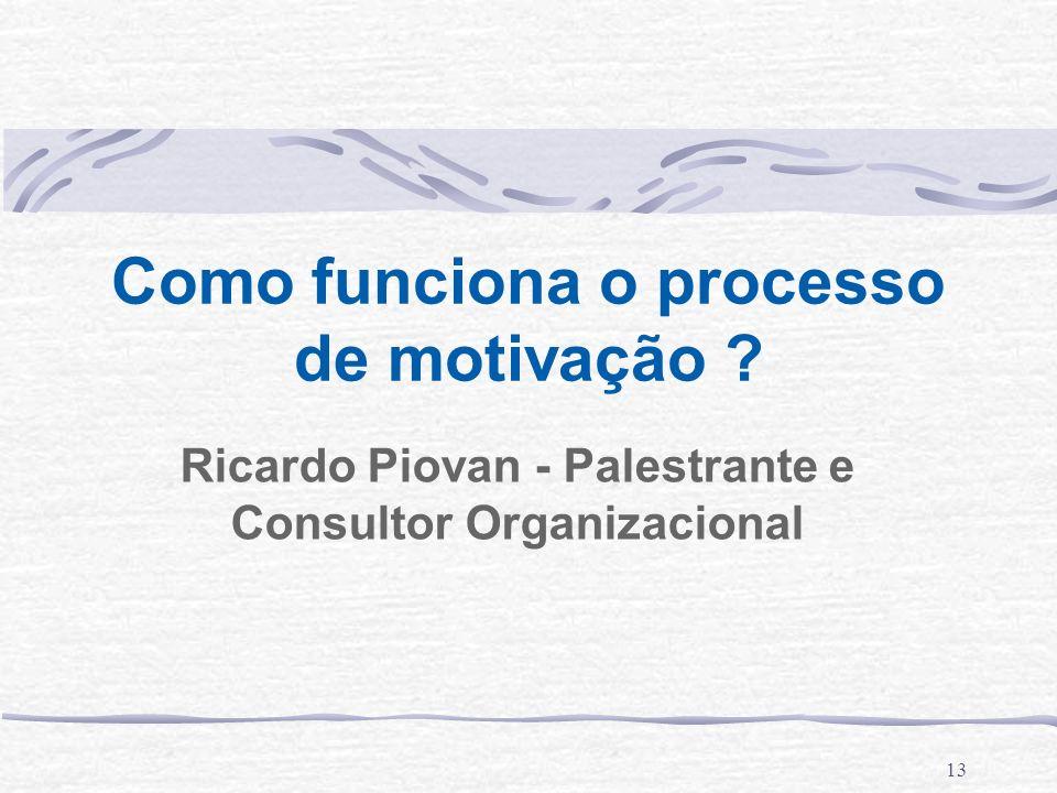 Como funciona o processo de motivação