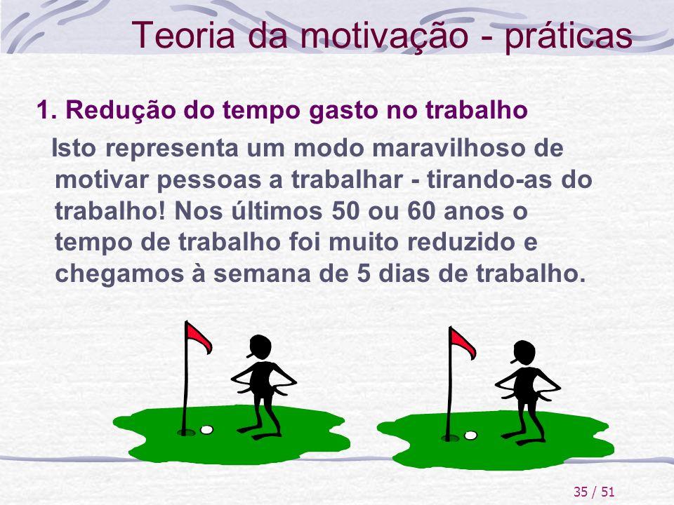 Teoria da motivação - práticas