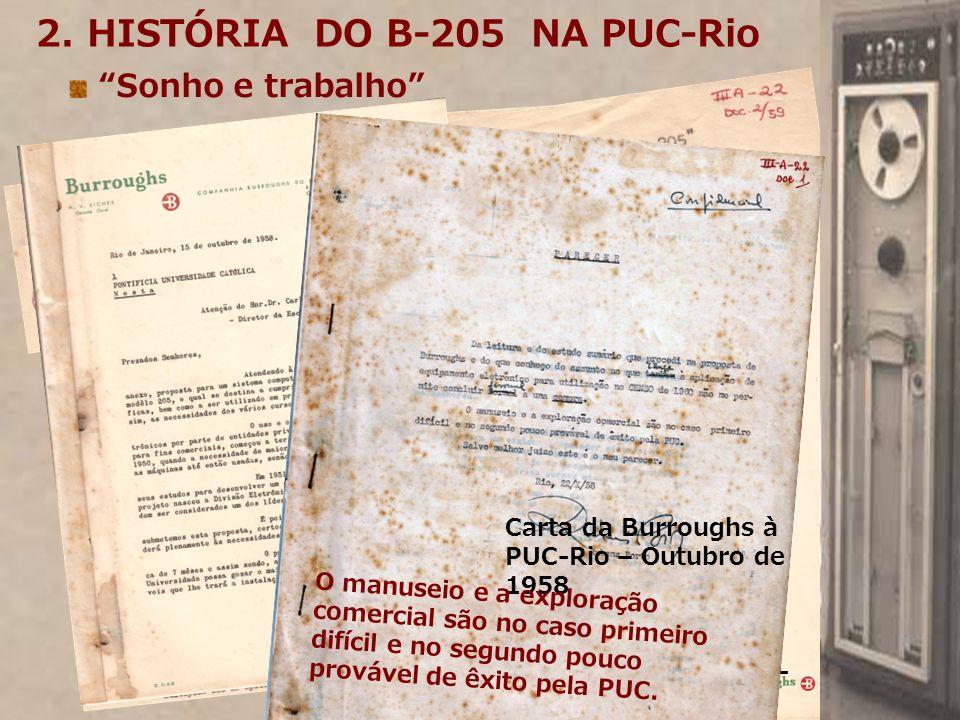 2. HISTÓRIA DO B-205 NA PUC-Rio