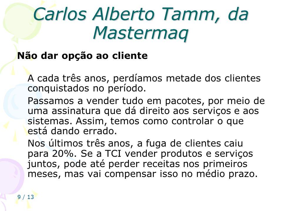 Carlos Alberto Tamm, da Mastermaq