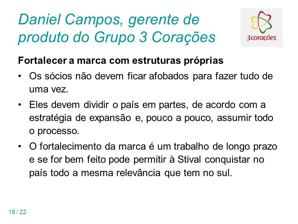 Daniel Campos, gerente de produto do Grupo 3 Corações