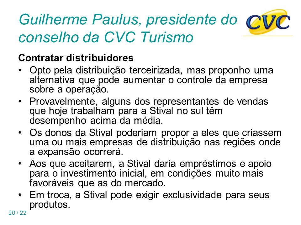 Guilherme Paulus, presidente do conselho da CVC Turismo