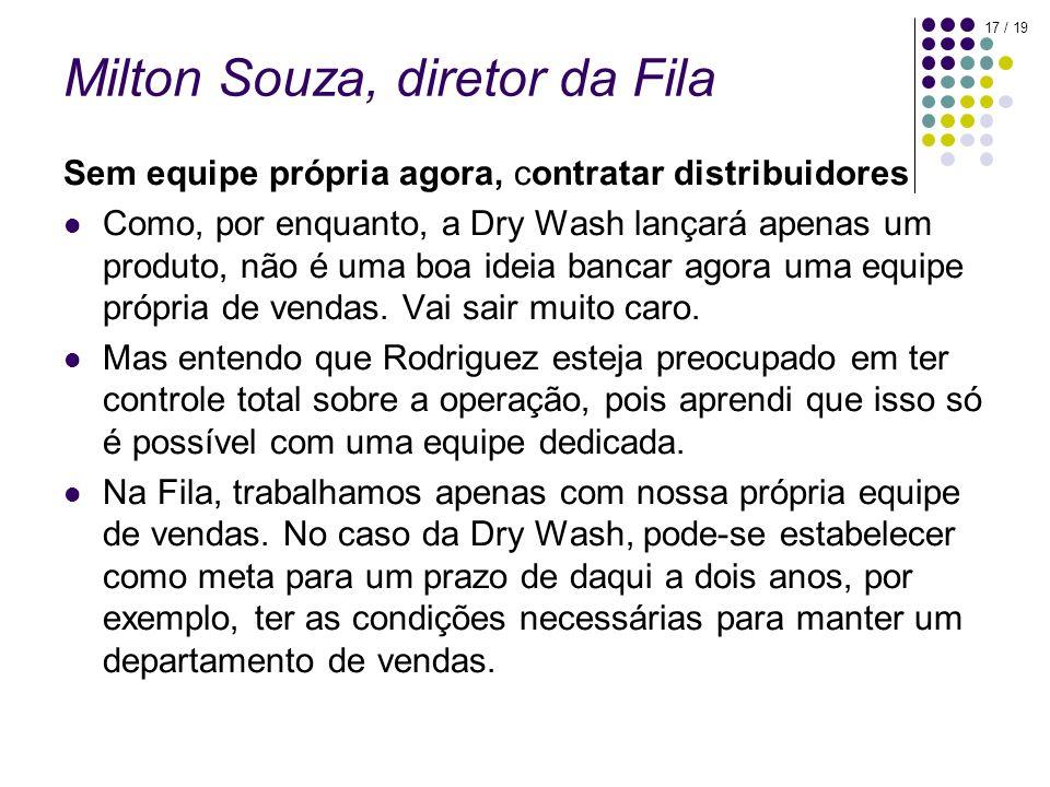 Milton Souza, diretor da Fila