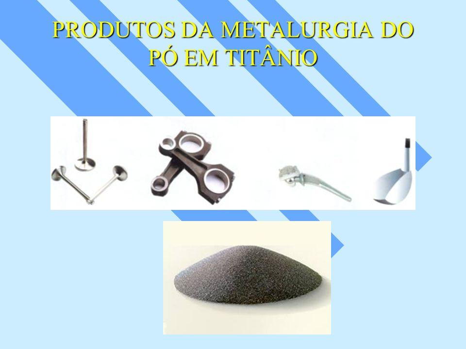 PRODUTOS DA METALURGIA DO PÓ EM TITÂNIO