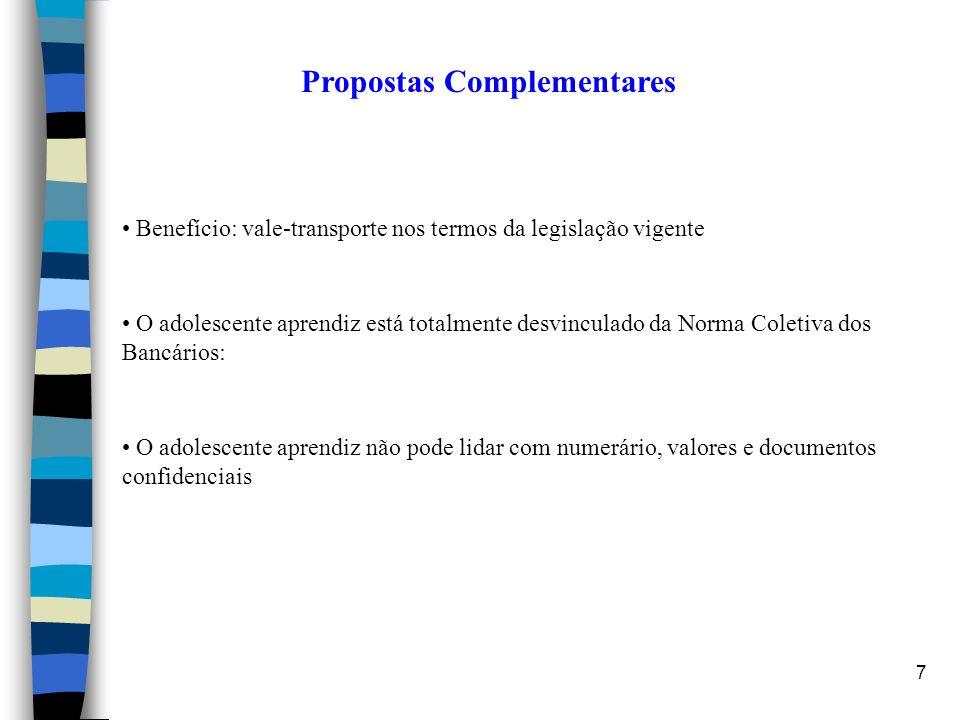 Propostas Complementares
