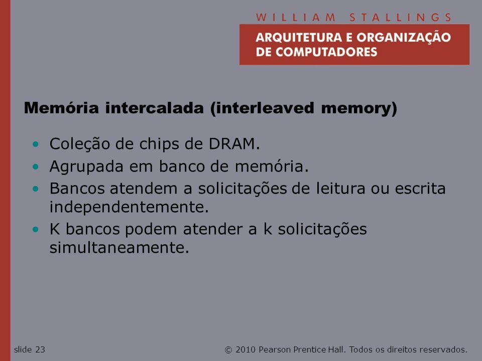 Memória intercalada (interleaved memory)