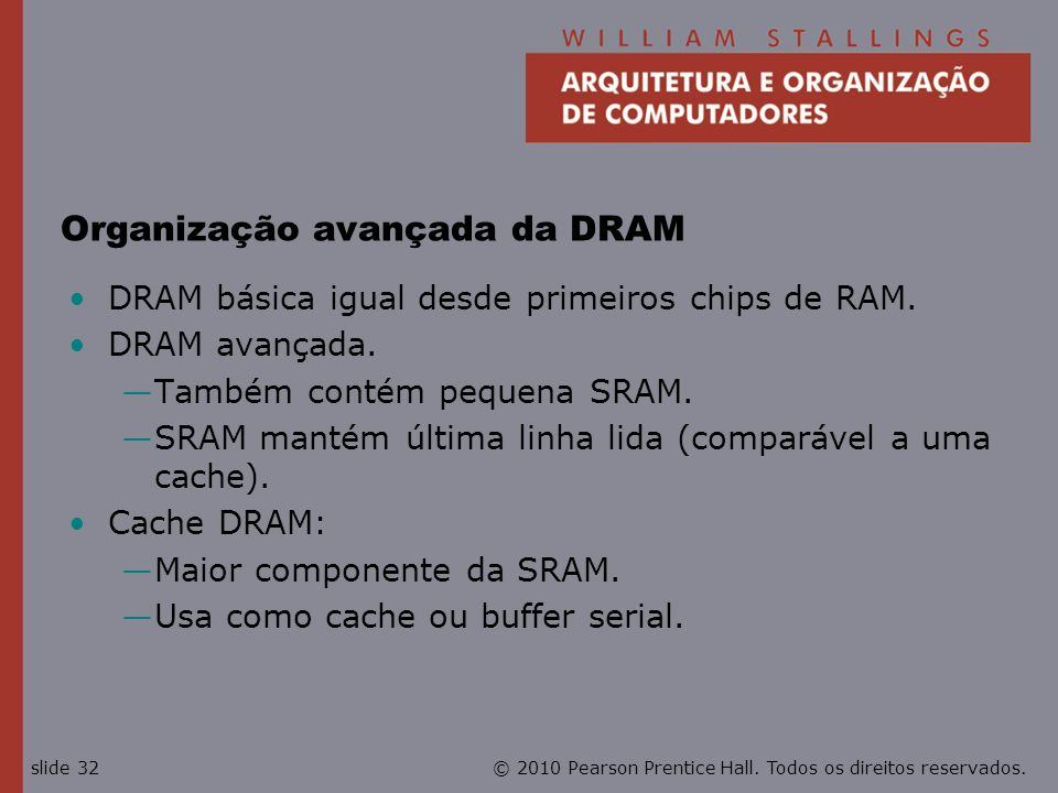 Organização avançada da DRAM