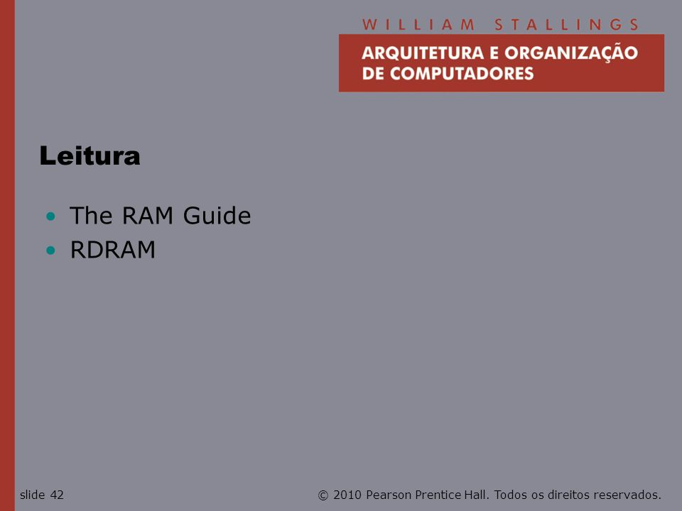 Leitura The RAM Guide RDRAM