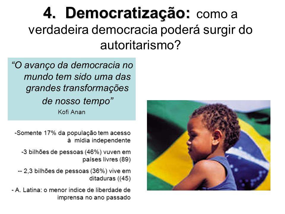 4. Democratização: como a verdadeira democracia poderá surgir do autoritarismo