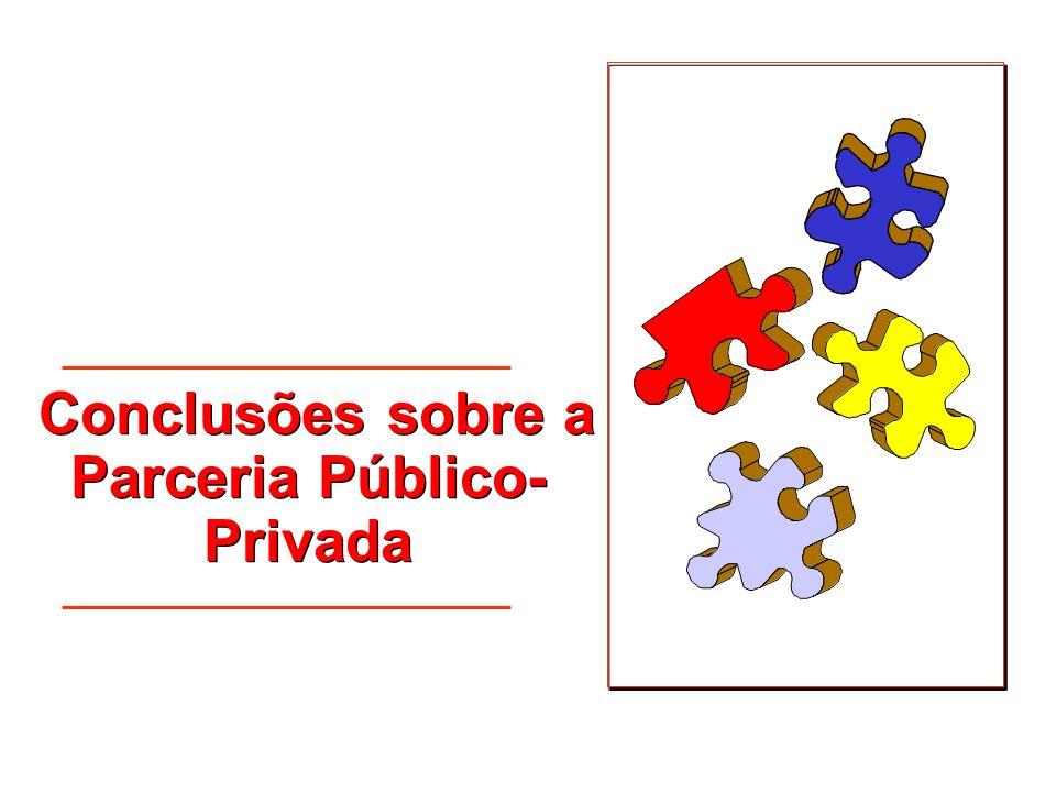 Conclusões sobre a Parceria Público-Privada