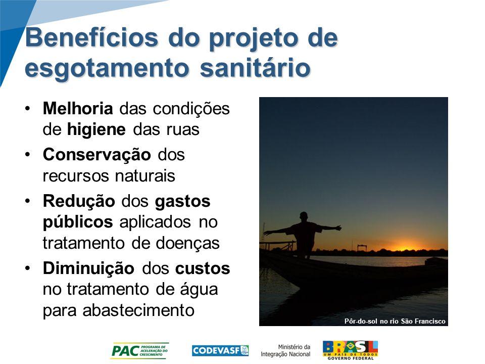 Benefícios do projeto de esgotamento sanitário