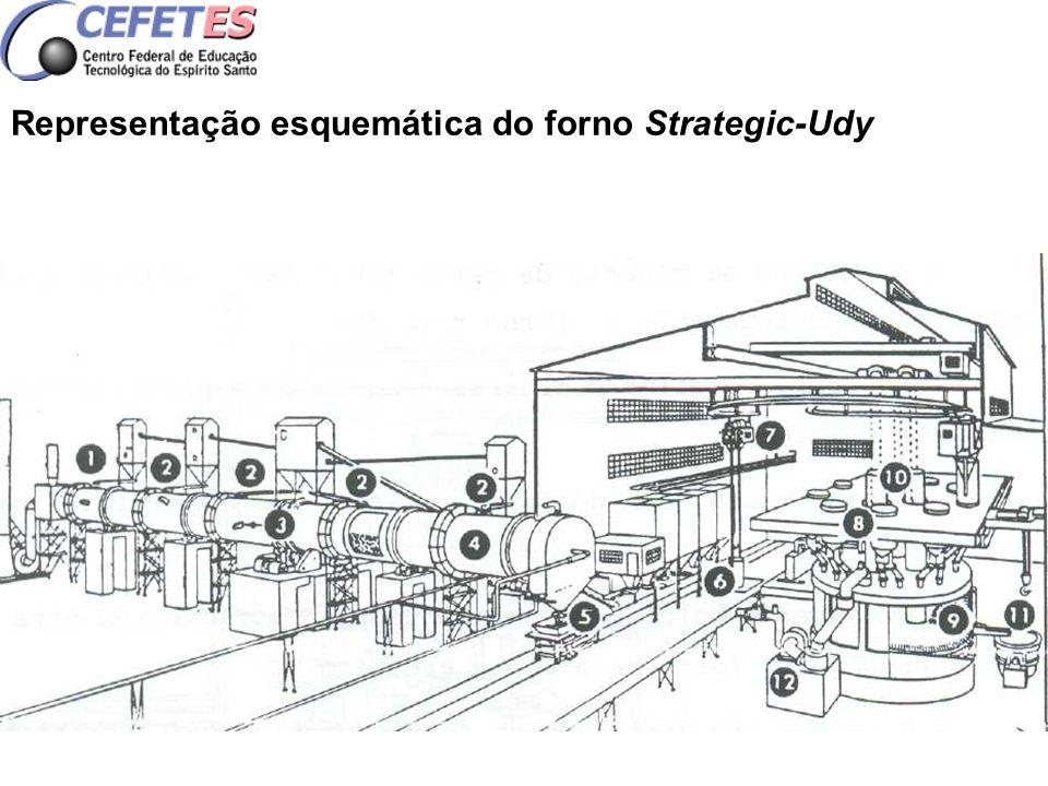 Representação esquemática do forno Strategic-Udy