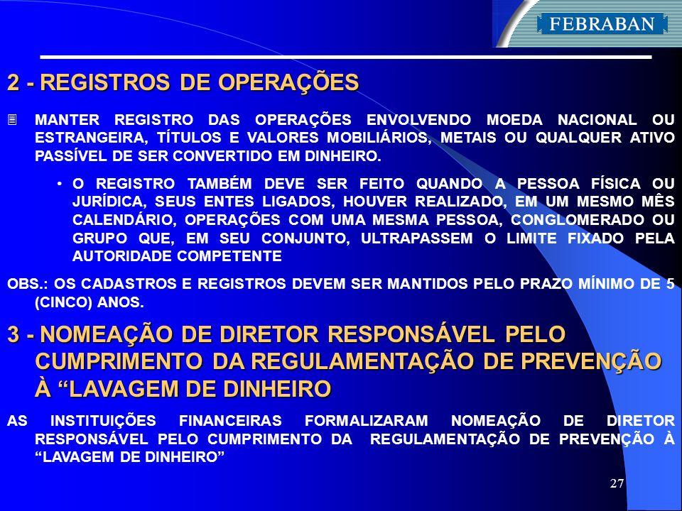 2 - REGISTROS DE OPERAÇÕES