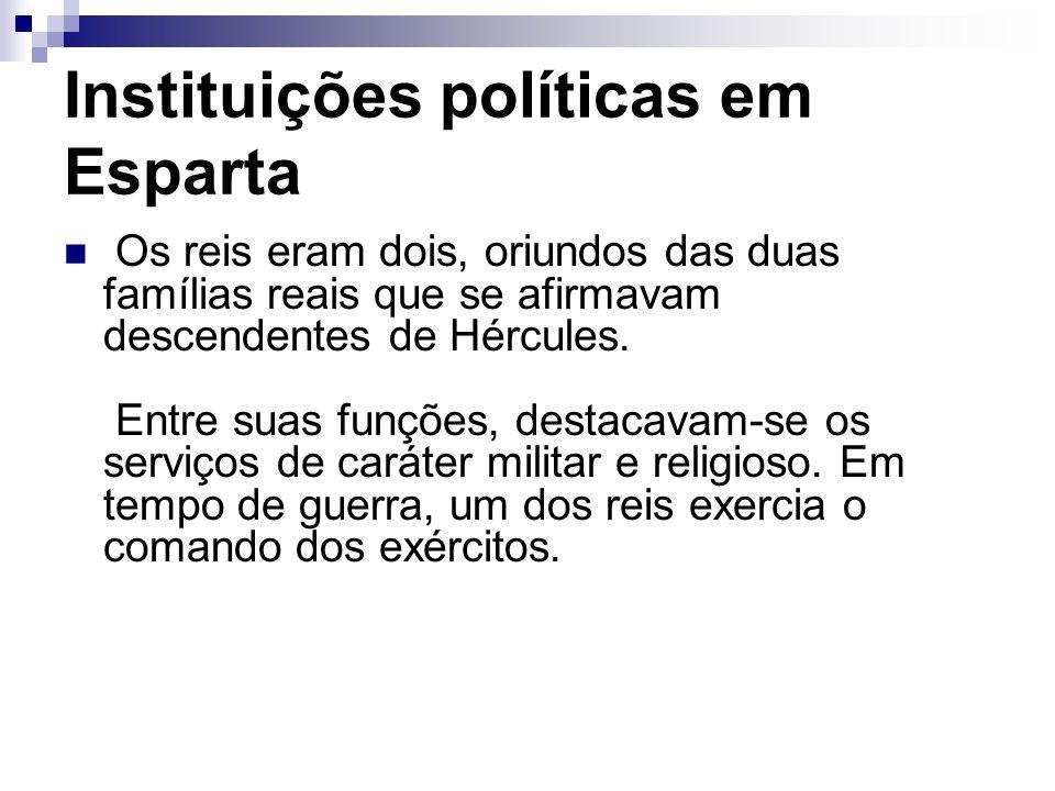 Instituições políticas em Esparta