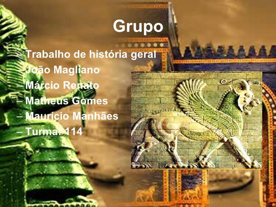 Grupo Trabalho de história geral João Magliano Márcio Renato