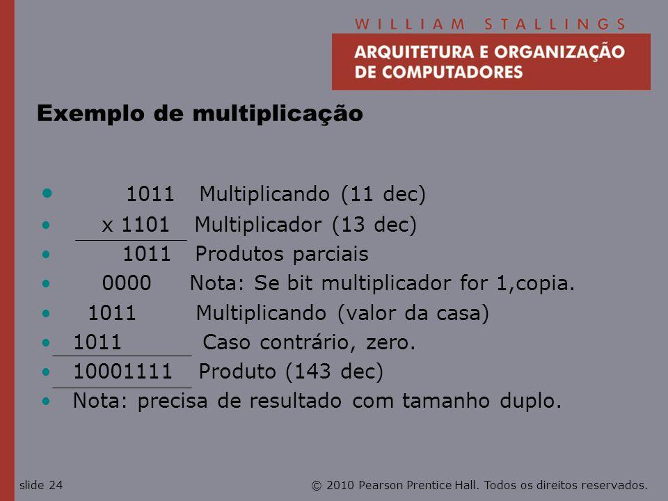 Exemplo de multiplicação