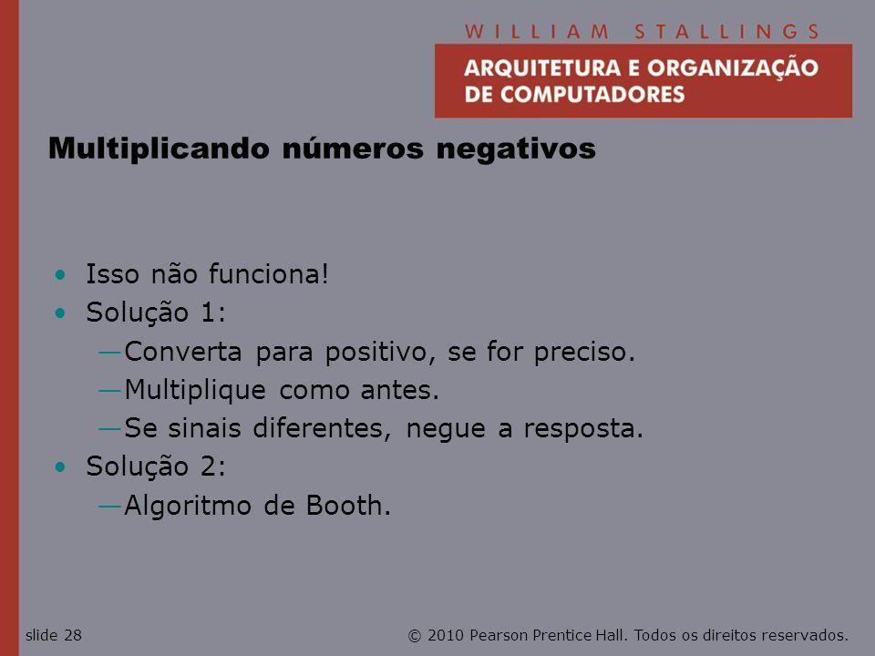 Multiplicando números negativos