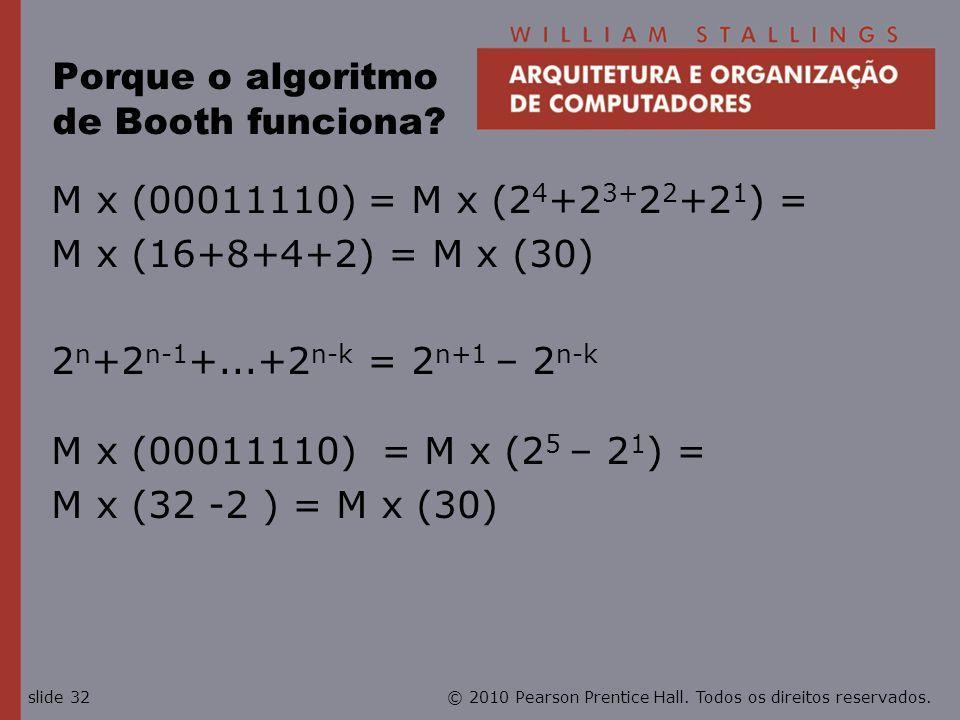 Porque o algoritmo de Booth funciona