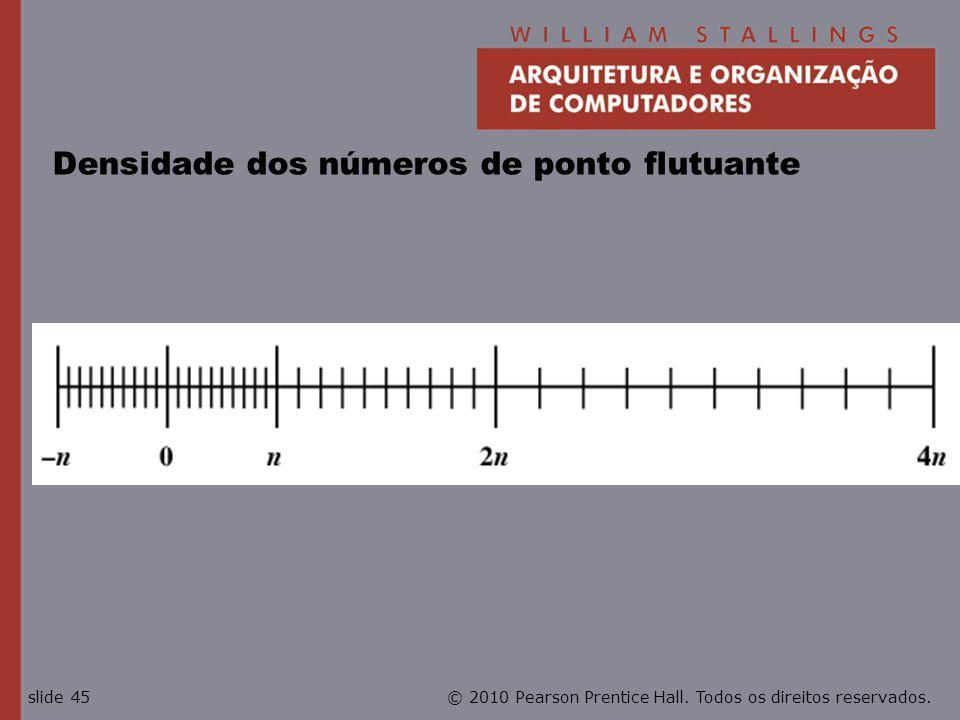 Densidade dos números de ponto flutuante