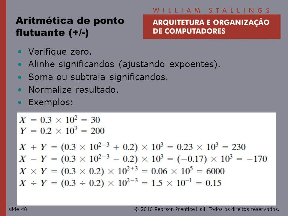Aritmética de ponto flutuante (+/-)