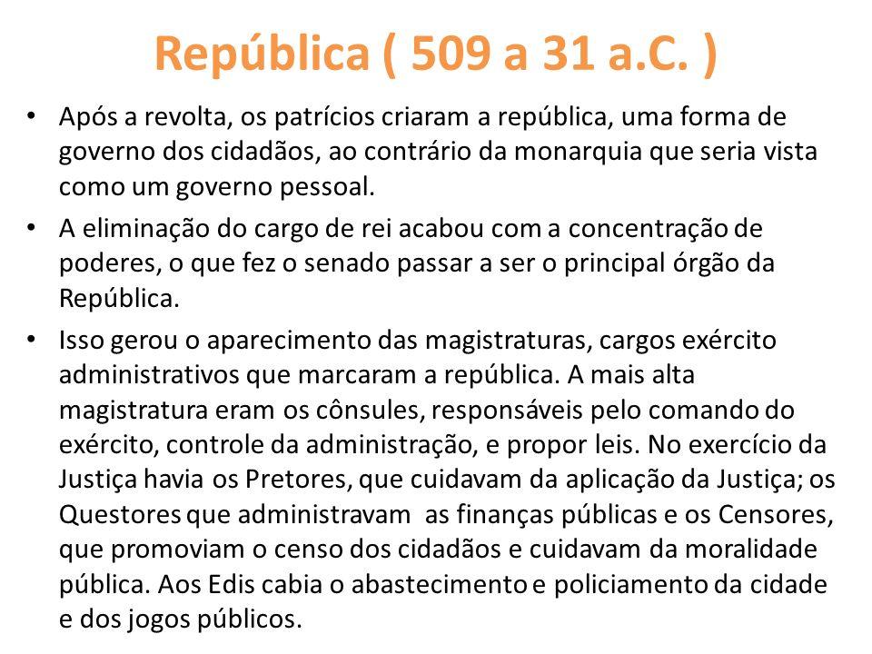 República ( 509 a 31 a.C. )
