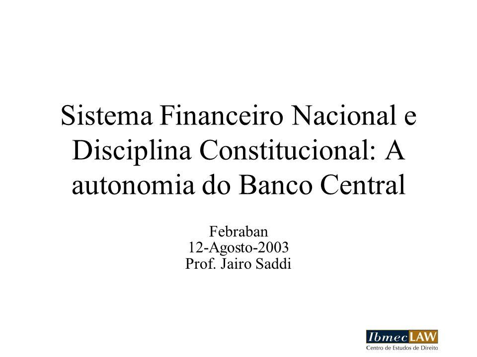 Febraban 12-Agosto-2003 Prof. Jairo Saddi