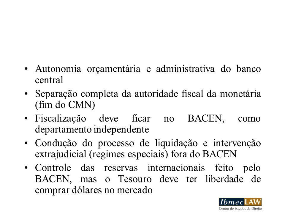 Autonomia orçamentária e administrativa do banco central