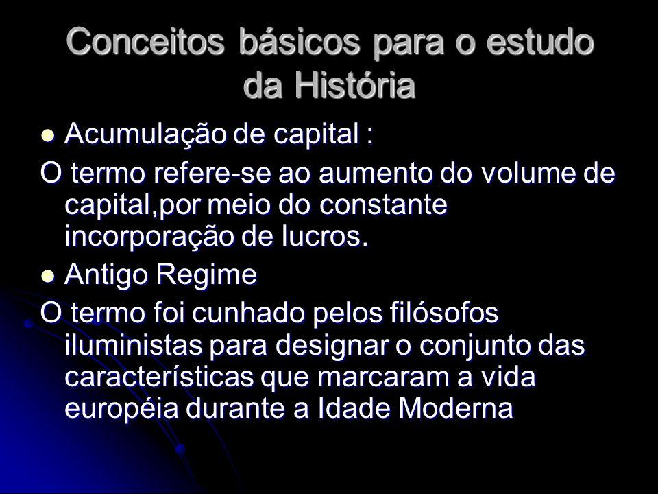 Conceitos básicos para o estudo da História
