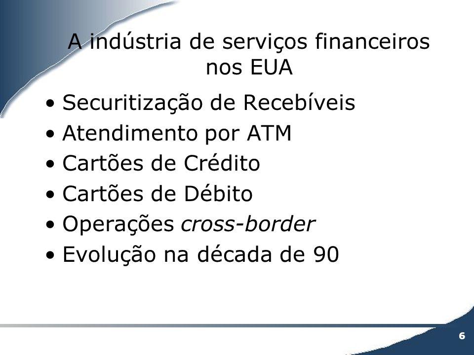 A indústria de serviços financeiros nos EUA