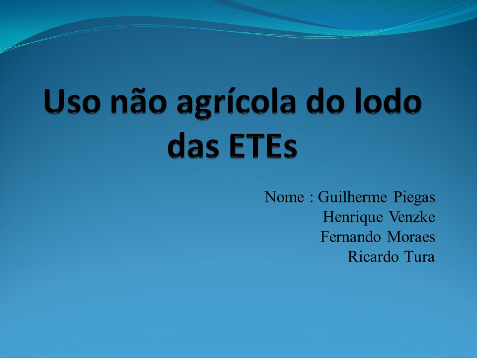 Uso não agrícola do lodo das ETEs