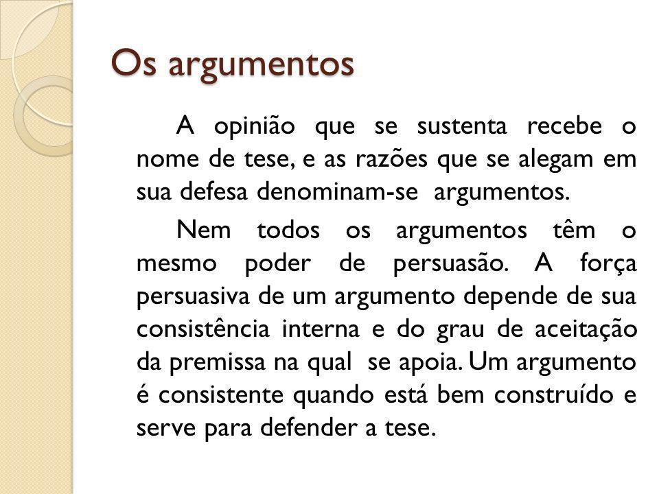 Os argumentos