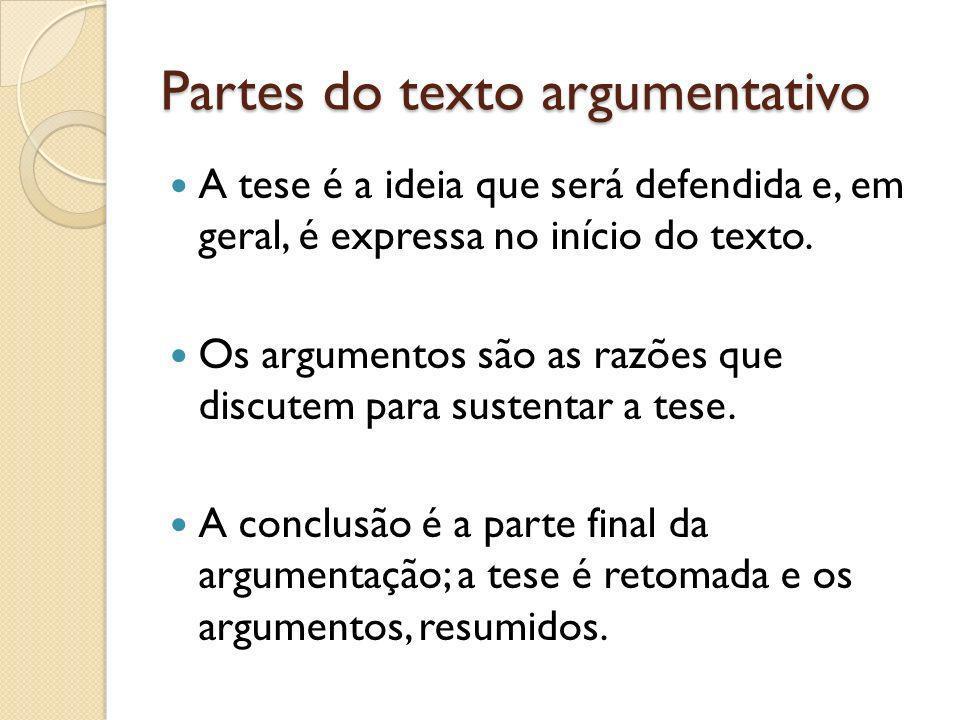 Partes do texto argumentativo