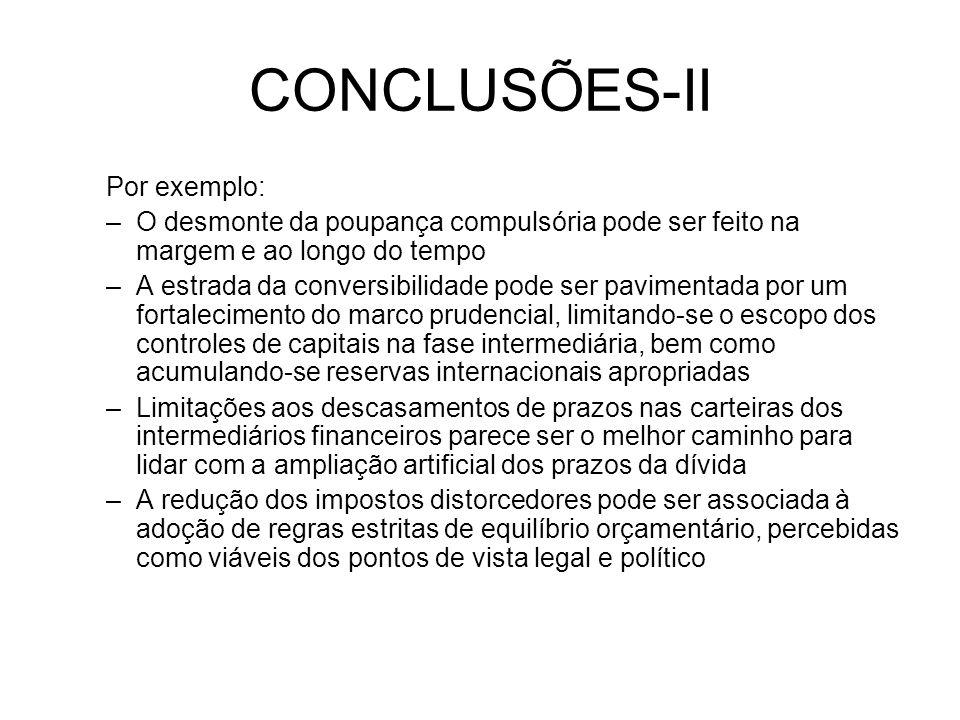 CONCLUSÕES-II Por exemplo: