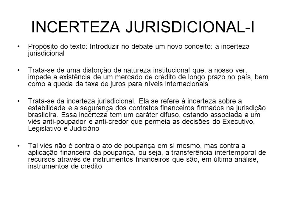INCERTEZA JURISDICIONAL-I