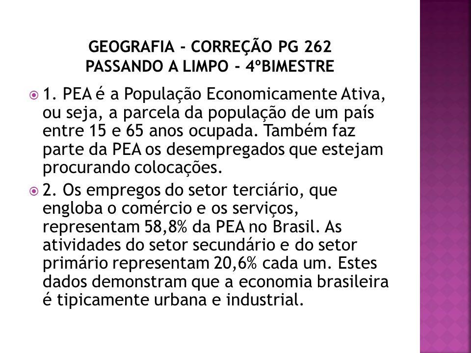 GEOGRAFIA - CORREÇÃO PG 262 PASSANDO A LIMPO - 4ºBIMESTRE