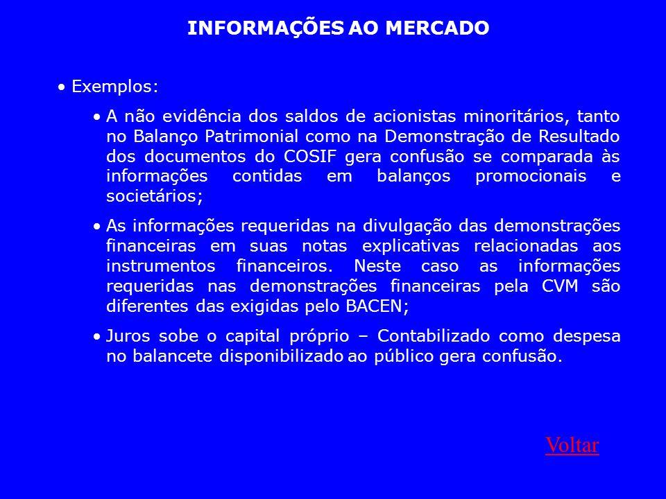 INFORMAÇÕES AO MERCADO