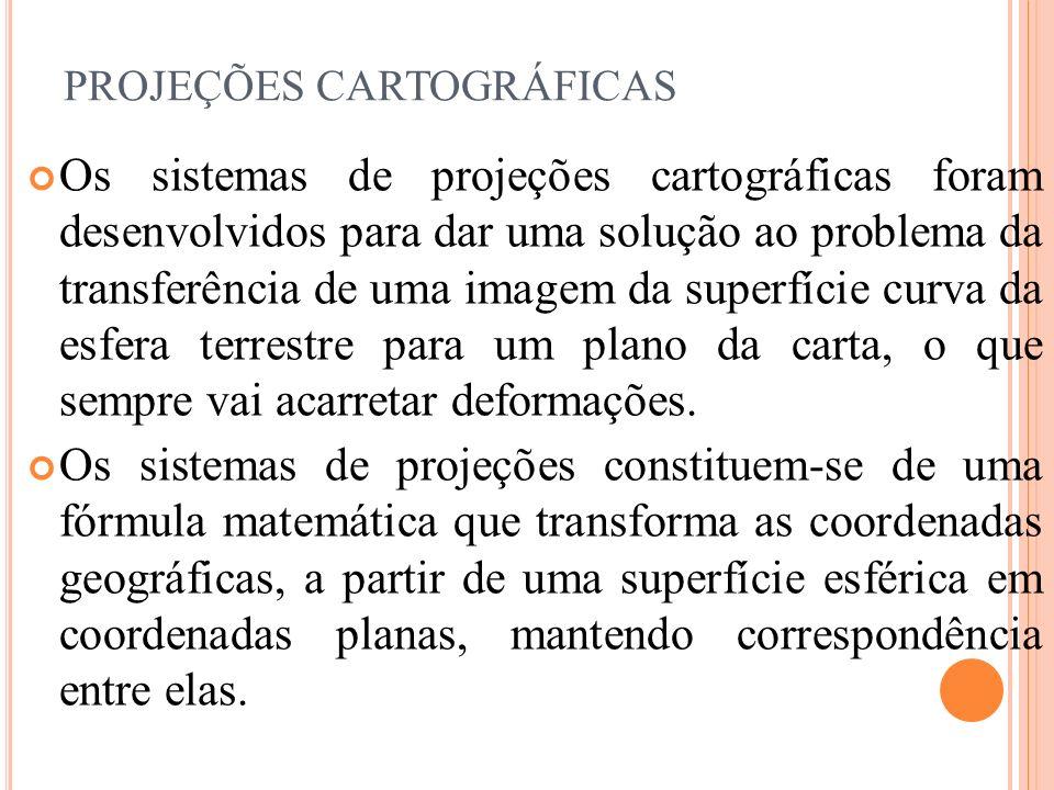 PROJEÇÕES CARTOGRÁFICAS