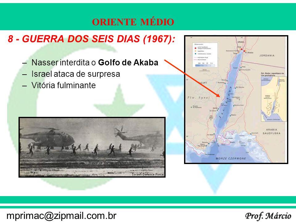 8 - GUERRA DOS SEIS DIAS (1967):