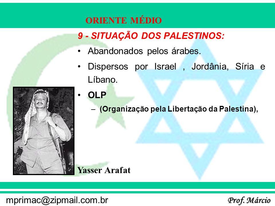 9 - SITUAÇÃO DOS PALESTINOS: Abandonados pelos árabes.