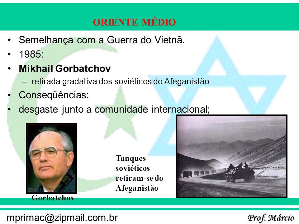 Semelhança com a Guerra do Vietnã. 1985: Mikhail Gorbatchov