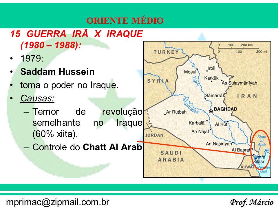 15 GUERRA IRÃ X IRAQUE (1980 – 1988):